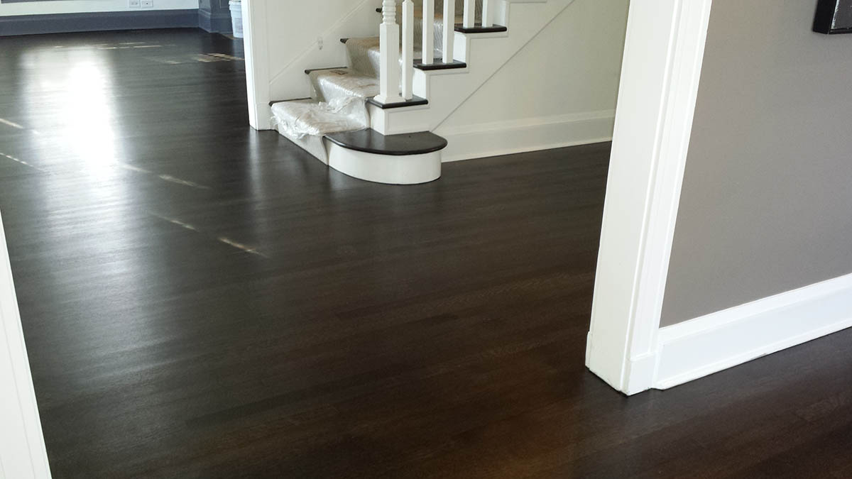 Dark Stain Color White Oak Floor Midwest Hardwood Floors