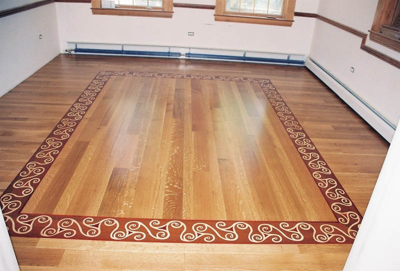 Custom designs borders midwest hardwood floors inc for Hardwood floor borders ideas