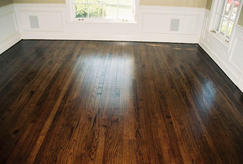 beautiful dark hardwood floor