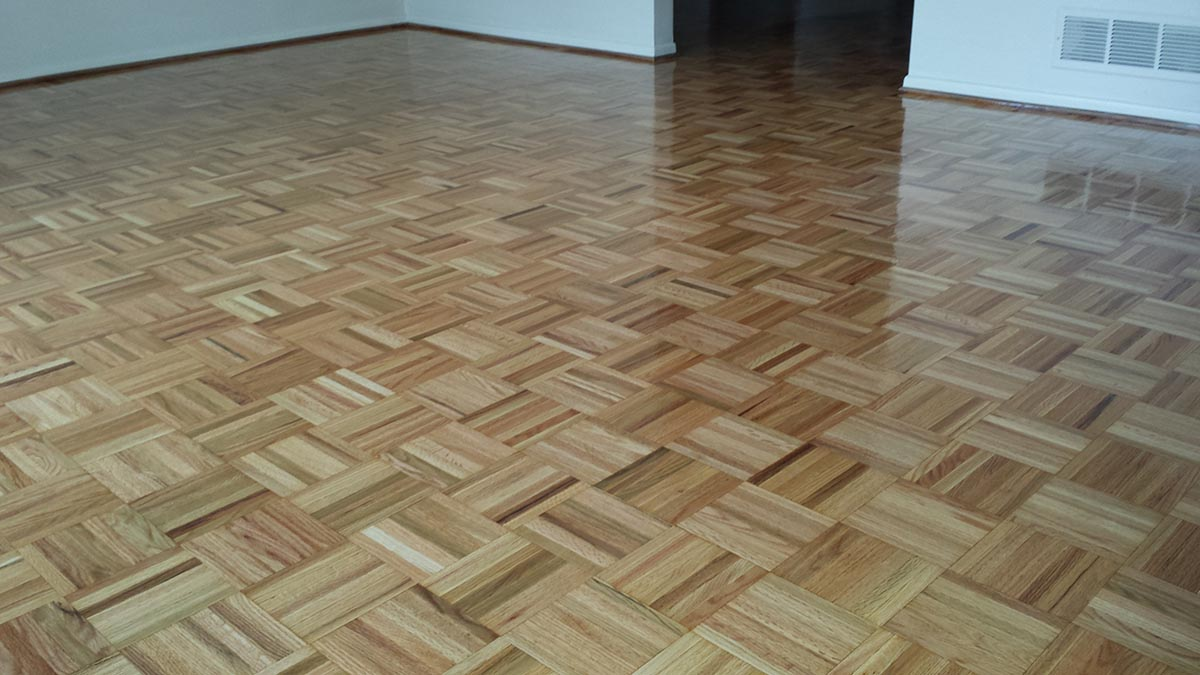 Teak Parquet Floor Repaired Refinished Midwest Hardwood Floors